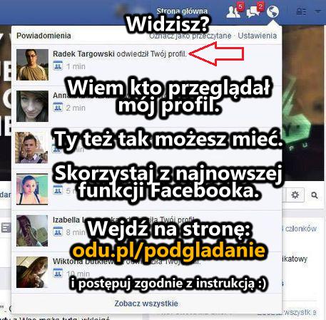 Sprawdź kto przeglądał Twój profil na Facebooku