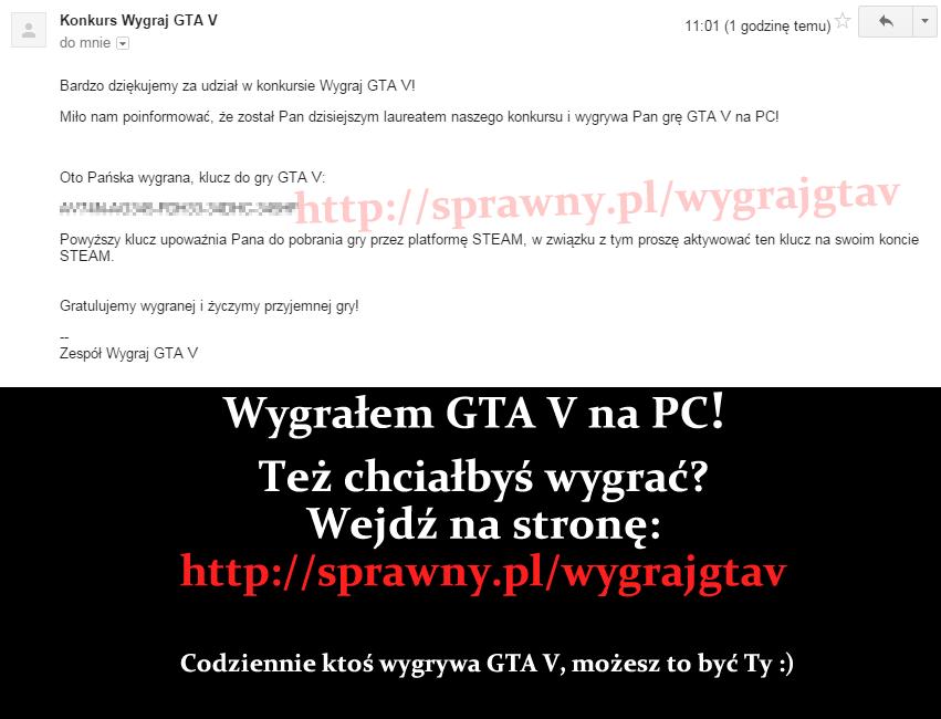 Wygrałem GTA V na PC! Ty też możesz wygrać :)