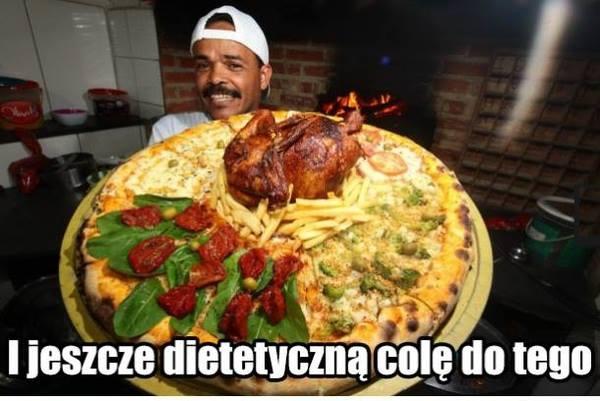 Dietetyczną colę do tego.