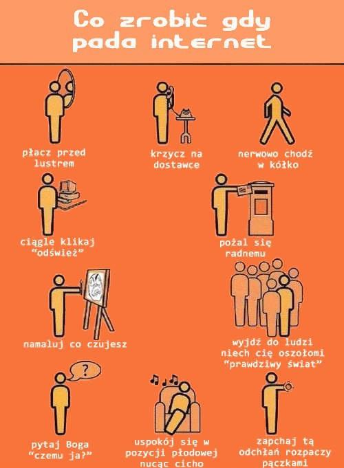 Co zrobić gdy pada internet