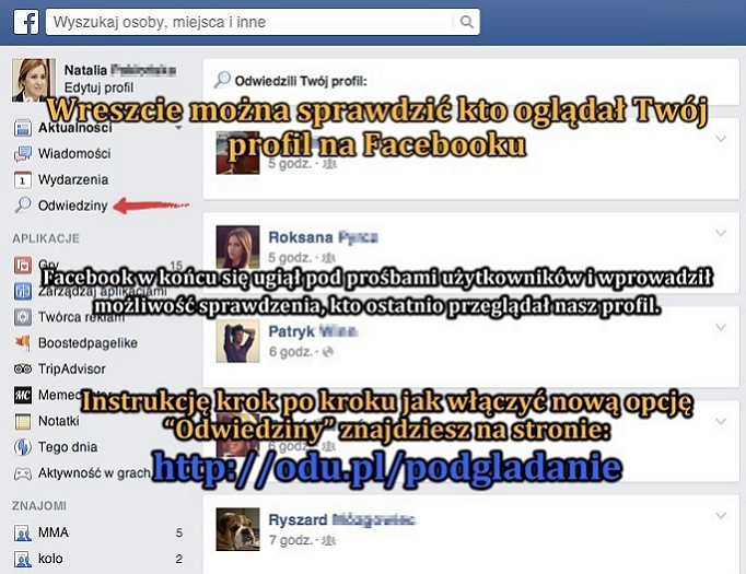 Sprawdź kto przeglądał Twój profil na Facebooku!