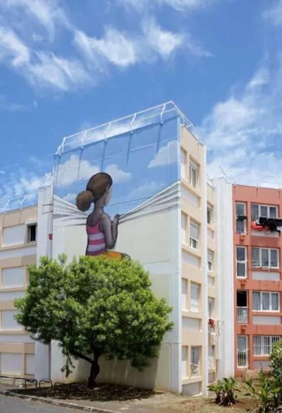 Mural na bloku